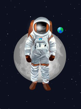 Drawing of astronaut