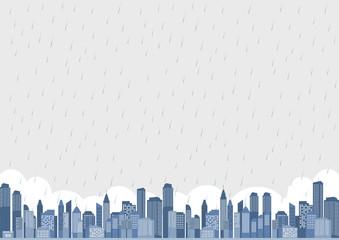 都市 雨 風景