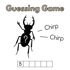 Cartoon Beetle Guessing Game
