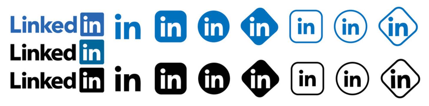 linkedin vector logo.linkedin vector icon.linkedin editorial