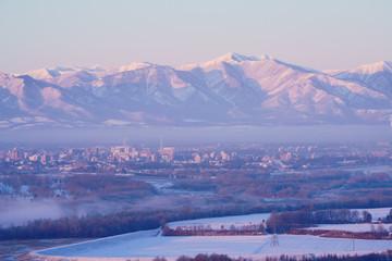 冬の十勝平野