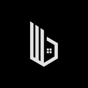 B real estate logo design. B letter icon design for real estate company. B home icon logo design. Real estate company logo design. Construction and real-estate company logo.
