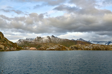 Lake Totensee at the Grimsel Pass in Switzerland
