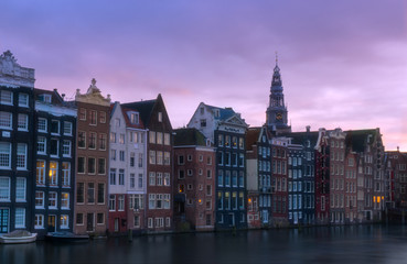 Canvas Prints Amsterdam old houses in amsterdam