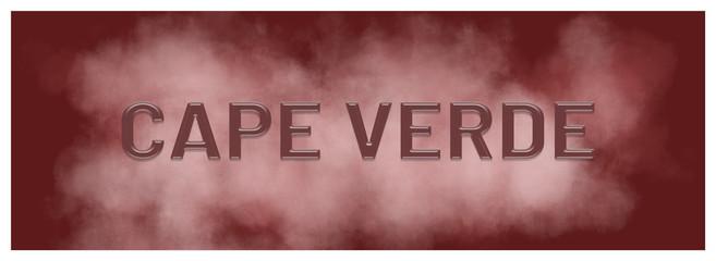 Fototapeten Kastanienbraun web Label Sticker Cape Verde