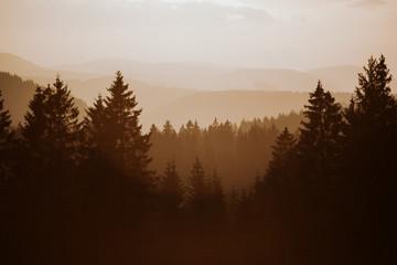 Foto auf AluDibond Schokobraun Sunset Landscape