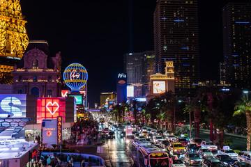 Casinos am Las vegas strip in Las Vegas Nevada