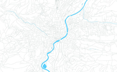 Jena, Germany bright vector map