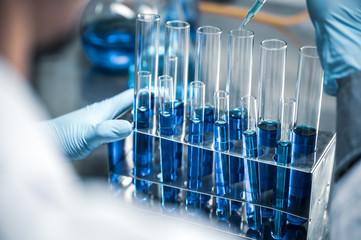 lab glassware  science laboratory research and development concept