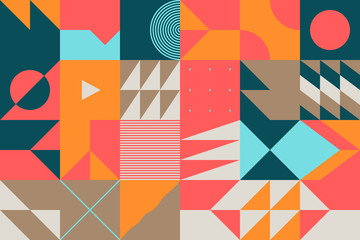 Mid-Century Abstract Vector Pattern Design
