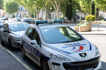 car police french city vehicle peugeot