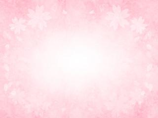 【水彩】桜フレーム