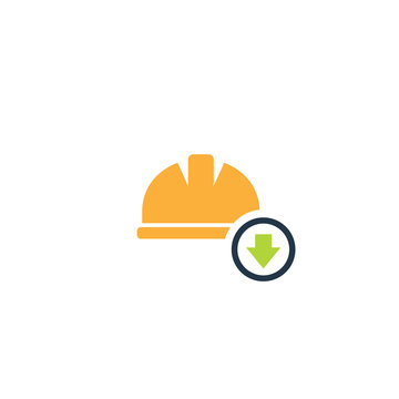 Job reduction icon. Clipart image isolated on white background