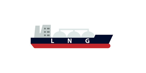 lng tanker icon. Clipart image isolated on white background