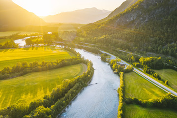 Foto op Canvas Meloen Rauma river valley, Norway