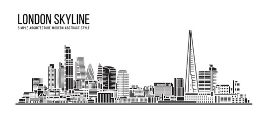 Cityscape Building Simple architecture modern abstract style art Vector Illustration design -  London city