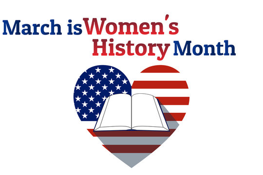 Concept of Women's History Month. Template for background, banner, card, poster with text inscription. Vector EPS10 illustration. .