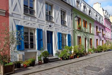 Colored street in Paris