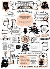Obraz Bullet journal doodle elements infographics - fototapety do salonu