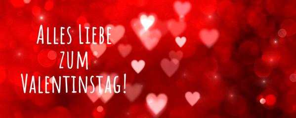 Fototapete - Valentine's Day greeting card German text - Alles Liebe zum valentinstag - Happy Valentine's Day