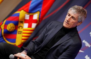 Quique Setien unveiled as FC Barcelona new coach