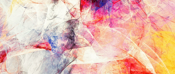 Bright artistic splashes. Abstract painting color texture. Modern pattern. Multicolor background. Fractal artwork for creative graphic design Fotomurales