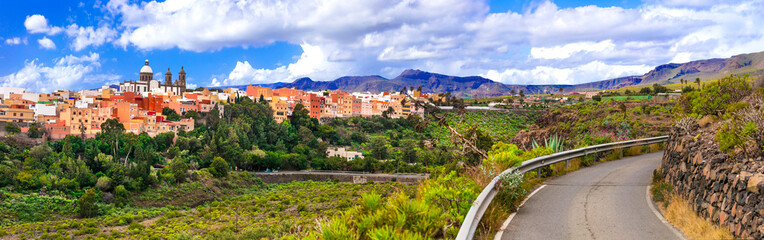 Travel in Gran Canaria - beautiful Aguimes town. Best places of Grand Canary island