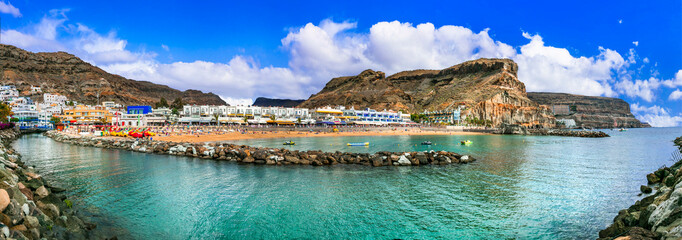 Grand Canary island - beautiful Puerto de Mogan, popular tourist destination. Canary islands of Spain