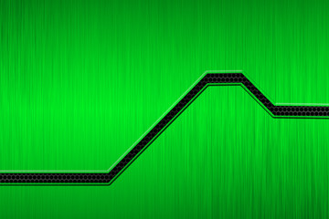 green metal plate and black mesh. Wall mural