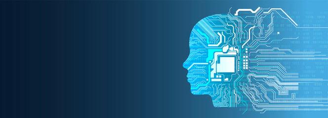 sfondo, testa, pensiero, intelligenza artificiale,