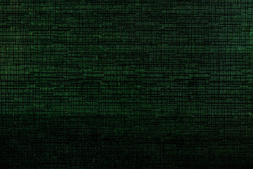 Abstract black digital technology background with green luminous particles dots. Matrix of virtual reality. Computer binary code illustration. Wall mural