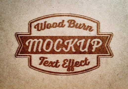 Branding Iron Text Effect Mockup