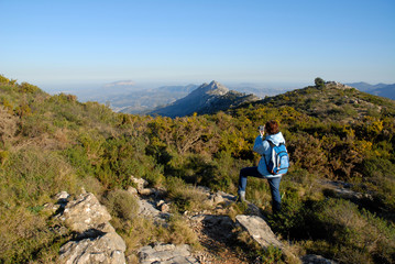 hiking in the mountains, Cavall Verd, Alicante Province, Spain