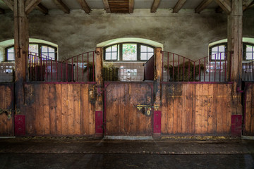 old horse stall in Poland