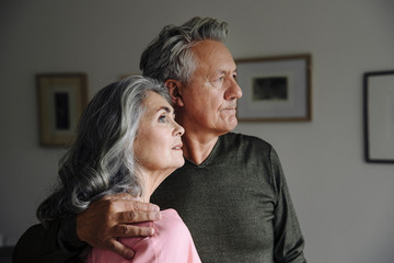 Portrait of a senior couple at home