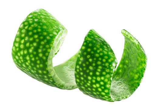 Lime peeled zest twist, paths