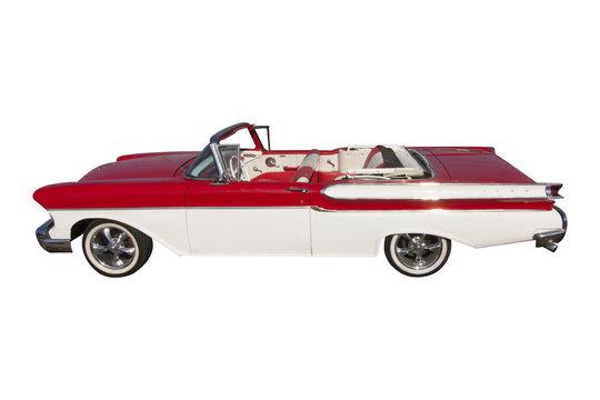 vecchia auto americana caratteristica cubana per trasporto turisti