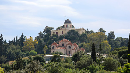 National Observatory and Asia Marina Church in Athens Greece