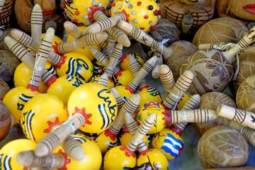 Decorated maracas Souvenirs from CUBA