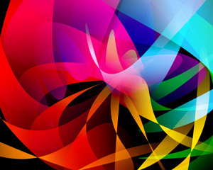Abstract vector design with colorful gradation
