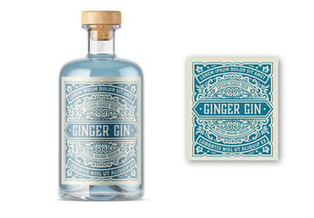 Vintage Liquor Label Packaging Layout