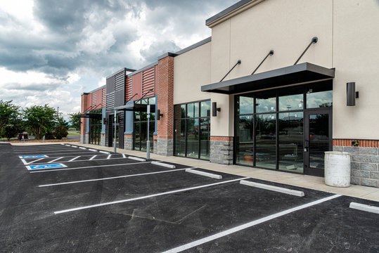 New Strip Shopping Center Nearing Completion