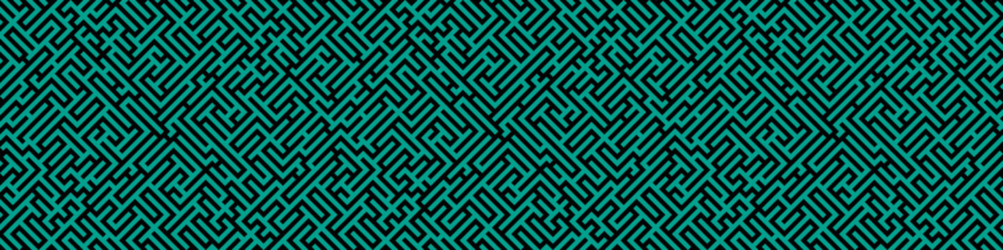 Maze illustration. Striped background. Geometrical wallpaper.
