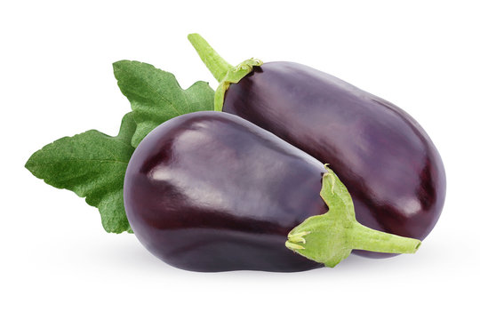isolated eggplant on a white background