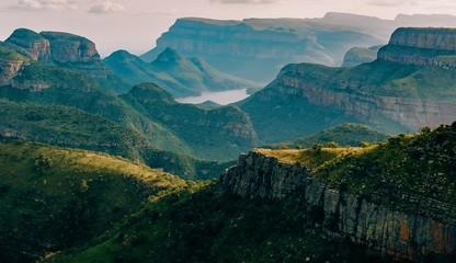 Foto auf AluDibond Blau türkis view of mountains