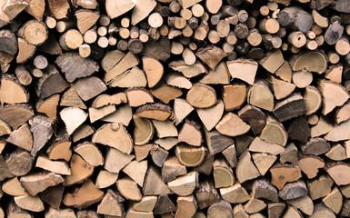 Poster de jardin Texture de bois de chauffage Woodpile used for fireplace texture