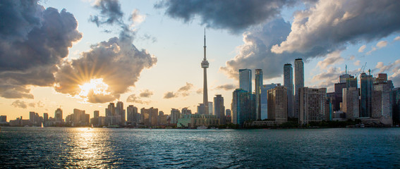 Photo sur Toile Toronto Sunset in Toronto