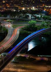 Bow river at night