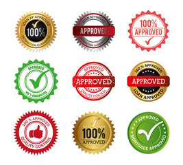set of seal quality icons vector illustration design