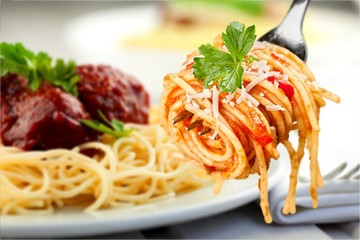 Fork with just spaghetti around